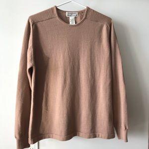 Wool blend dusty pink sweater